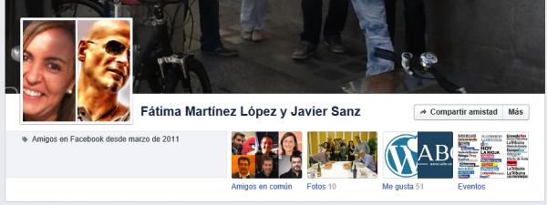 Página de amistad entre Fátima Martínez López y Javier Sanz
