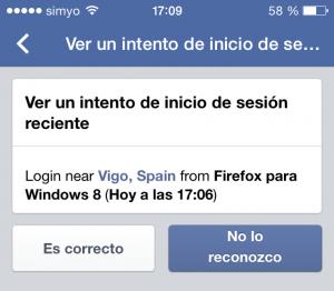 Autorizar el inicio de sesión en Facebook vía app