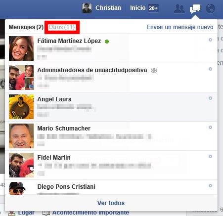 Buzón otros en Facebook