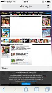Página permitida por el filtro de contenido para adultos de las restricciones de Apple en iOS (en este caso, en un iPhone, pero en un iPod o iPad es idéntico)