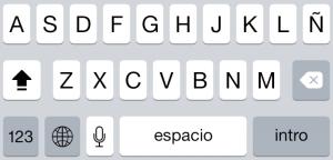 Bloqueo de mayúsculas en iOS 7