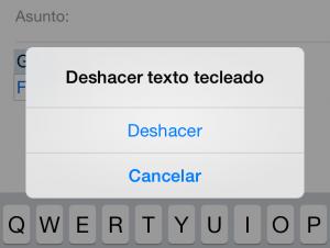 Deshacer en iOS
