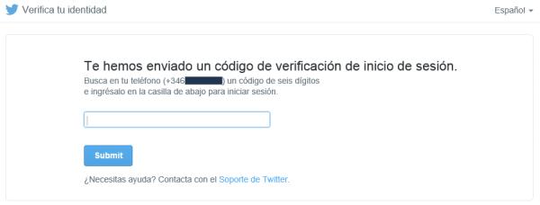 Hemos enviado una solicitud de inicio de esión a tu app de Twitter para iPhone