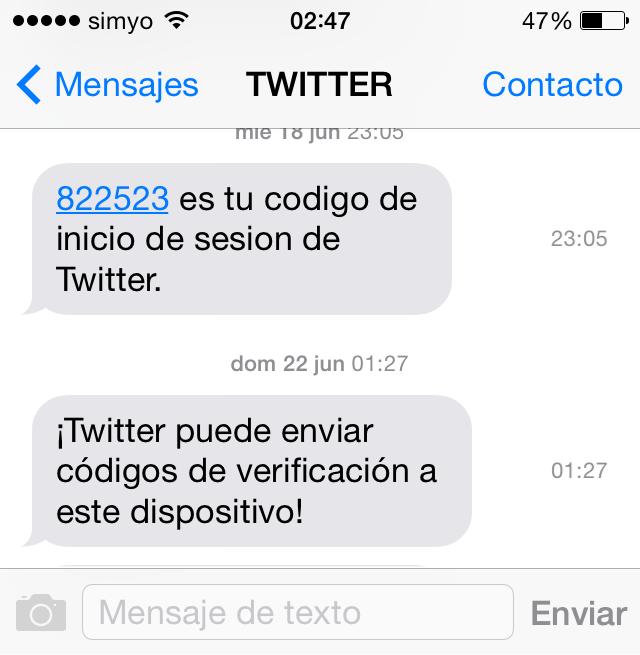 El ipad no recibe el número de teléfono de los mensajes
