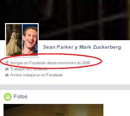 Truco para ver desde cuándo son amigos dos personas en Facebook que no son amigos tuyos