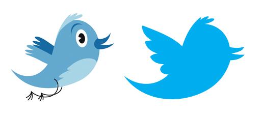 Comparativa de la imagen de Twitter tercera versión frente a la cuarta