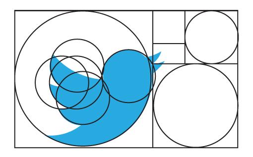 Twitter y la proporción áurea