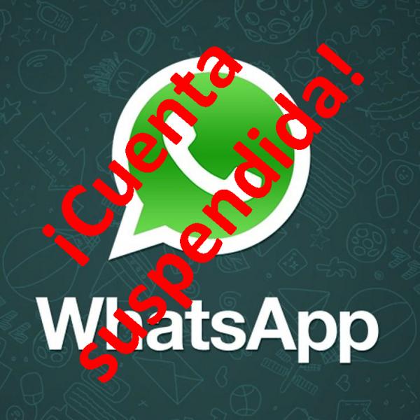 Whatsapp Cuenta suspendida