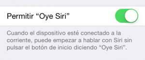 "Cómo activar ""Oye Siri"""