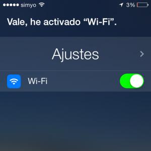 Activar la Wifi usando a Siri