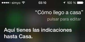 Siri, ¿cómo llego a casa?