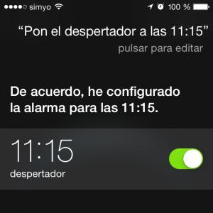 Configura el despertador