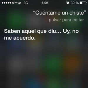 Siri cuenta un chiste