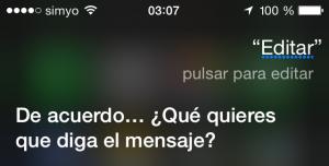 Siri, editar