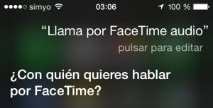 Siri, llama por FaceTime audio