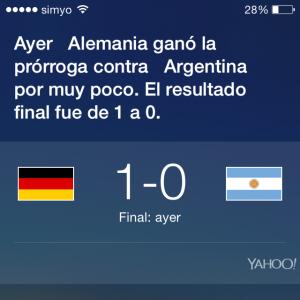 Siri, ¿Quién ganó el mundial de fútbol?