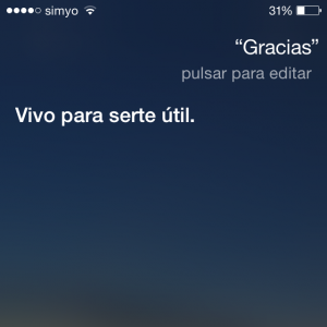 !Qué maja Siri!