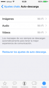 WhatsApp: descarga de elementos multimedia