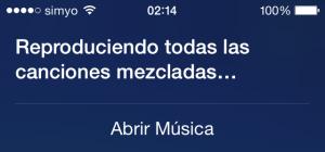 Siri poniendo música aleatoria