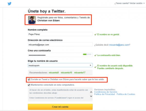 Únete a Twitter