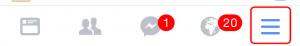 """Menú """"Más"""" de Facebook"""