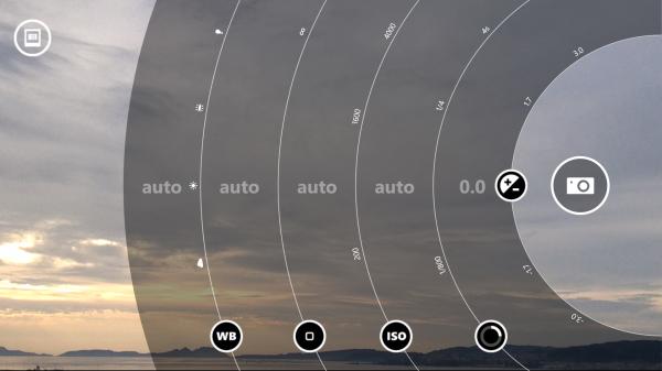 Controles manuales de la cámara de fotos en el Nokia Lumia 1520