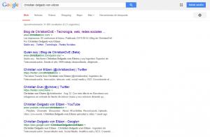 Egosurfing en Google