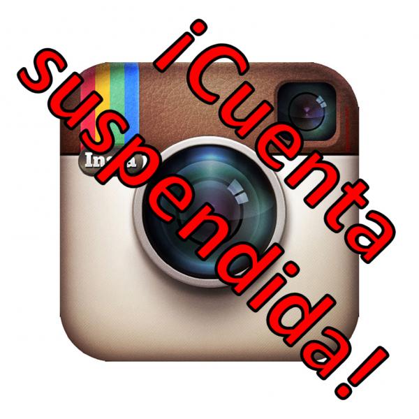 Cuenta suspendida en Instagram