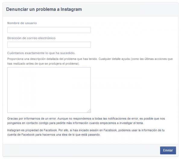 Denunciar un problema a Instagram