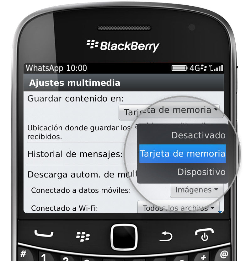espiar whatsapp desde blackberry