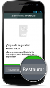 WhatsApp: restaurar copia de seguridad en Android