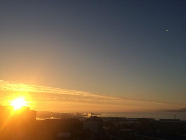 Puesta de sol en Vigo (4.1.2015)