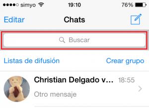 Buscar en las conversaciones de WhatsApp