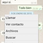 Buscar un texto en las conversaciones de WhatsApp en Android
