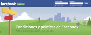 Facebook: condiciones y políticas