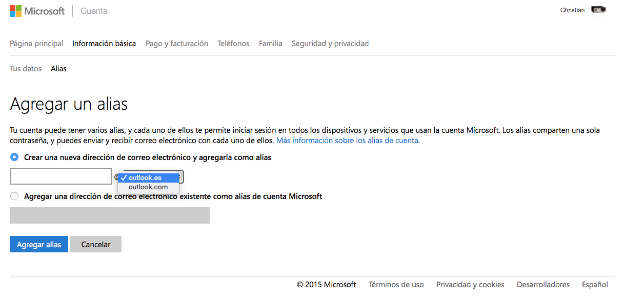 correo hotmail outlook iniciar sesion