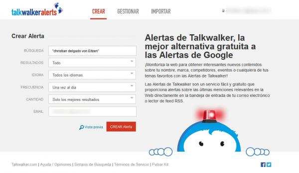 Alertas de Talkwalker