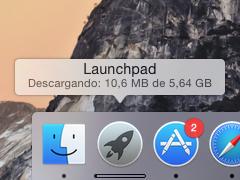 Evolución de la descarga de Mac OS X
