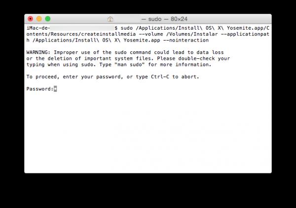 Crear disco de instalación de Mac OS X