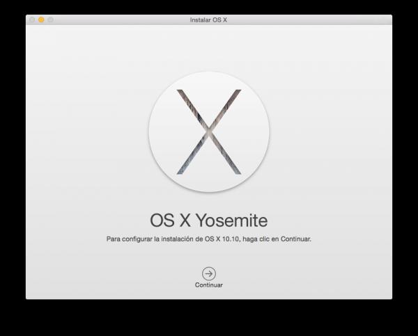 Instalación limpia de Mac OS X Yosemite