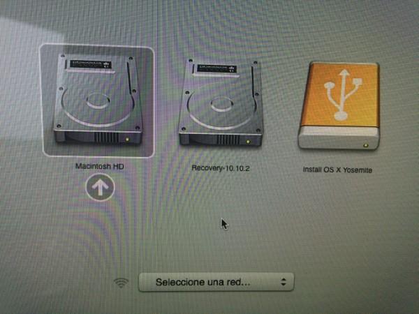 Menú de arranque de Mac OS X