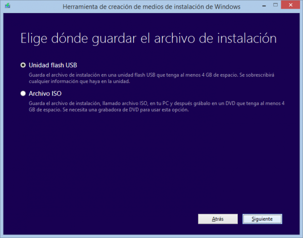 ¿Dónde se quiere grabar el disco de instalación de Windows 8?