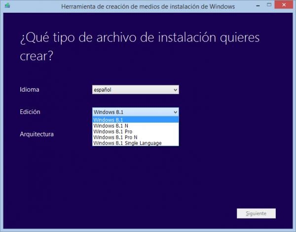 Herramienta de creación de medios de instalación de Windows