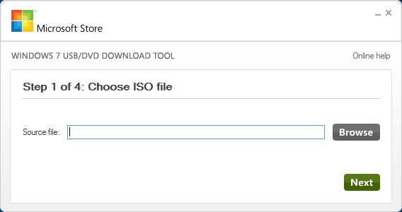 Herramienta para grabar el disco de Windows 7 en un DVD o memoria USB