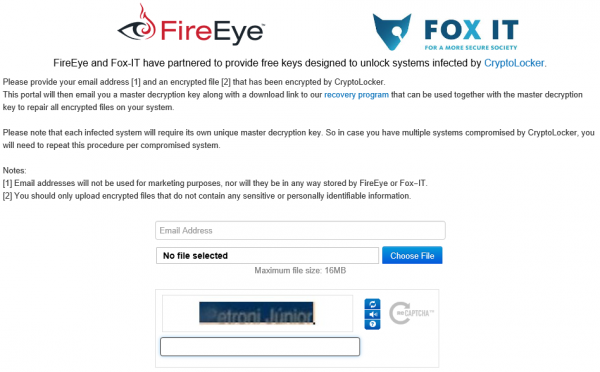 FireEye DecryptoLocker