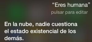 ¿Eres humana? En la nube, nadie cuestiona el estado existencial de los demás.