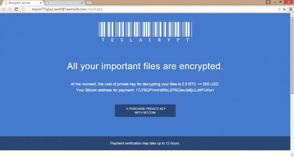 All your important files are encrypted