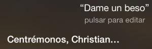 Dame un beso Centrémonos, Christian…