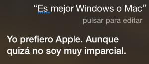 ¿Es mejor Windows o Mac? Yo prefiero Apple. Aunque quizá no soy muy imparcial