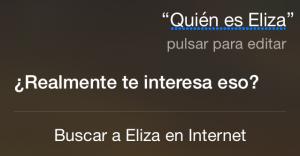 ¿Quién es Eliza? ¿Realmente te interesa eso?